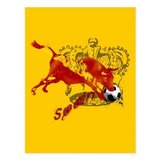 La Furia España Toro Artwork gifts and tees Postcard