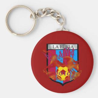 La furia futbol fans soccer shield gifts key chains