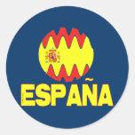 La Furia Roja Futbol de Espana España Pegatina Redonda