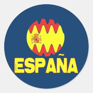 La Furia Roja Futbol de Espana España Etiqueta Redonda