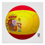 La Furia Roja - fútbol de España Póster