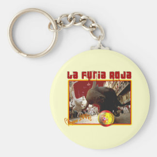 La Furia Roja Raging Bull Futbol Champions 2008 Keychains