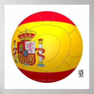 La Furia Roja – Spain Football Poster