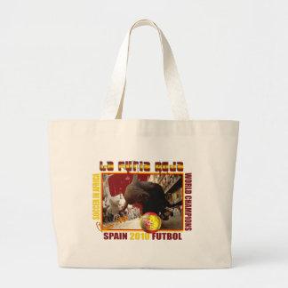 La Furia Roja Spanish Bull Soccer Futbol Tote Bags