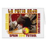 La Furia Roja Spanish Bull Soccer Futbol Greeting Card