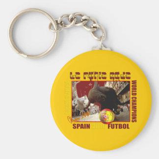 La Furia Roja Spanish Bull Soccer Futbol Keychains