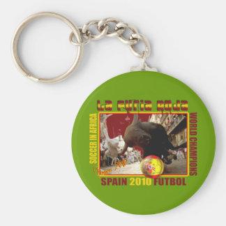 La Furia Roja Spanish Bull Soccer Futbol Keychain