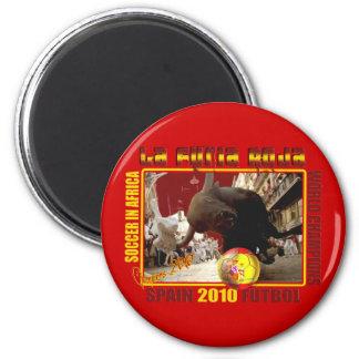 La Furia Roja Spanish Bull Soccer Futbol Magnet
