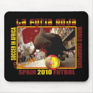 La Furia Roja Spanish Bull Soccer Futbol Mouse Pad