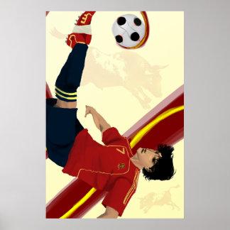 La Furia Roja Spanish Spain 2014 Soccer by Sarjis Posters
