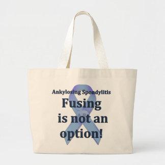 La fusión no es un tote grande de la opción bolsa de tela grande