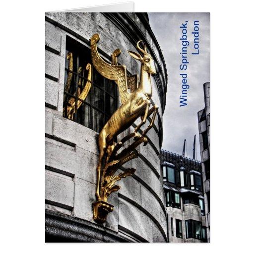 La gacela coa alas de Londres Tarjeta De Felicitación