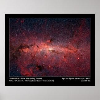 La galaxia de la vía láctea impresiones