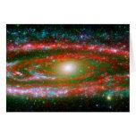 La galaxia del Andromeda Tarjetas