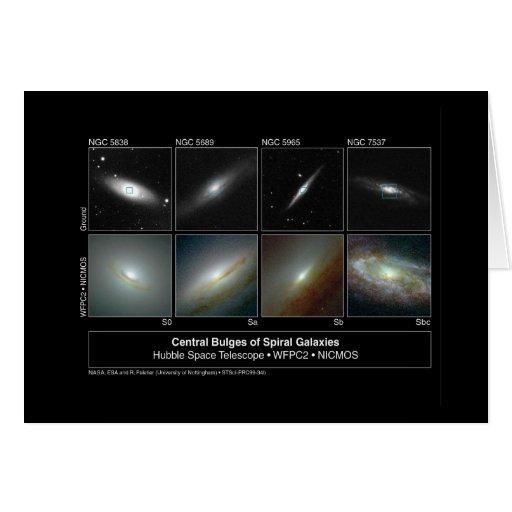La galaxia espiral bombea la foto del telescopio tarjeta de felicitación