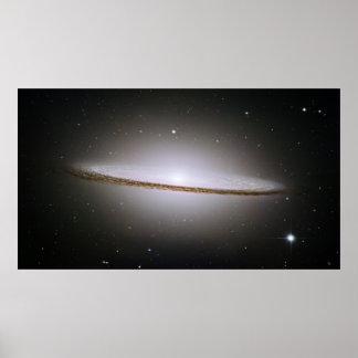 La galaxia majestuosa del sombrero (M104) Póster