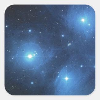 La galaxia pegatina cuadrada
