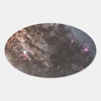 La galaxia pegatina ovalada