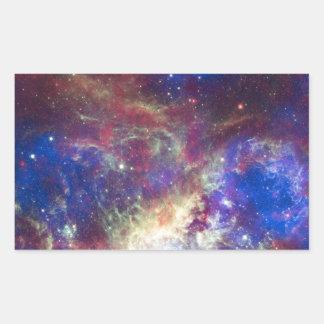 La galaxia pegatina rectangular