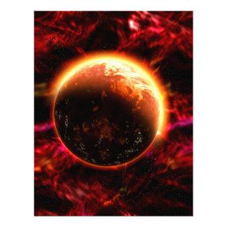 "La galaxia protagoniza aurora llameante folleto 8.5"" x 11"""