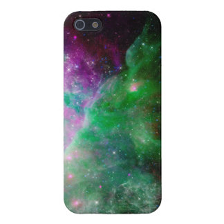 La galaxia protagoniza púrpura verde del espacio iPhone 5 cobertura