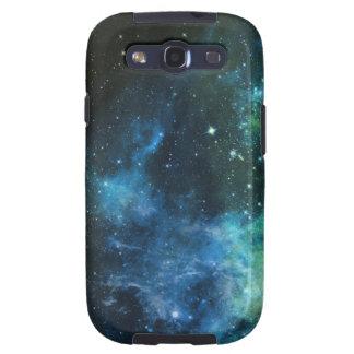 La galaxia protagoniza verde azul de la nebulosa samsung galaxy s3 fundas