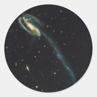La galaxia UGC 10214 del Tadpole Pegatina Redonda