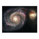 La galaxia un 51a más sucio NGC 5194 de Whirlpool Postal