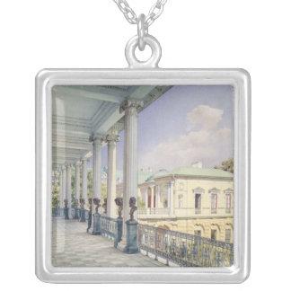 La galería de Cameron en Tsarskoye Selo, 1859 Colgante Cuadrado