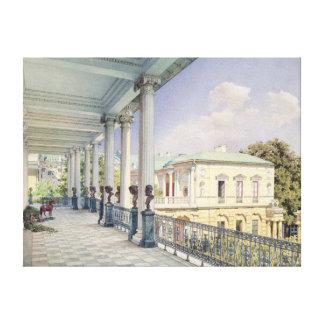 La galería de Cameron en Tsarskoye Selo, 1859 Impresión En Tela