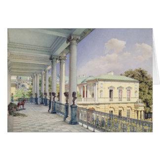 La galería de Cameron en Tsarskoye Selo, 1859 Tarjeta De Felicitación