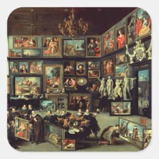 La galería de Cornelio van der Geest Pegatina Cuadrada
