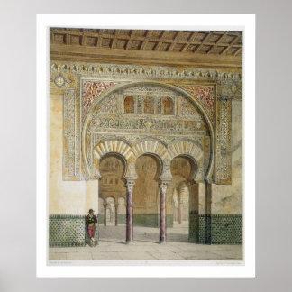 La galería de la corte de leones en Alhambra, Póster