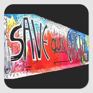 La galería de la zona este, muro de Berlín, ahorra Calcomanías Cuadradas