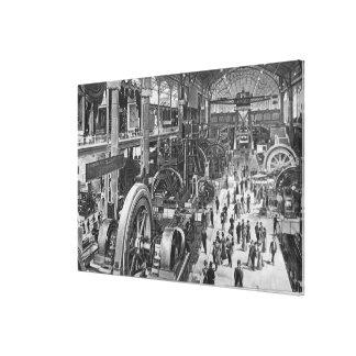 La galería francesa de la maquinaria eléctrica impresiones en lona estiradas