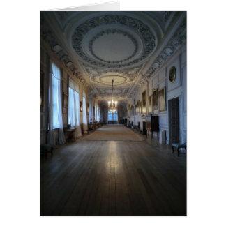 La galería larga en Sudbury Pasillo, Derbyshire Tarjeta De Felicitación