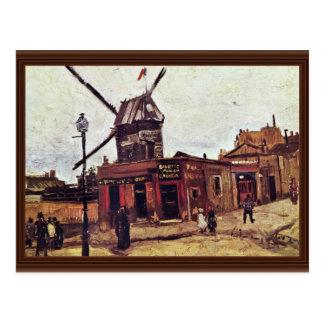 La Galette de Le Moulin De de Vincent van Gogh Tarjeta Postal