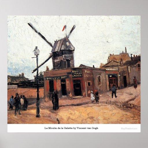 La Galette de Le Moulin de Vincent van Gogh Poster