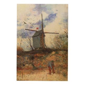 La Galette, molino de viento de Van Gogh Le Moulin Impresión En Madera