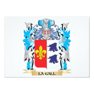 La-Gall Coat of Arms - Family Crest 5x7 Paper Invitation Card