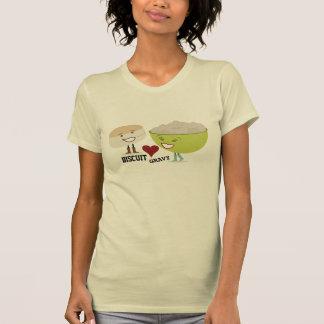 La galleta ama la camiseta divertida de la salsa polera