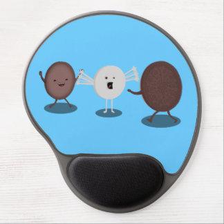 La galleta del bocadillo abraza el gel Mousepad Alfombrilla De Ratón Con Gel