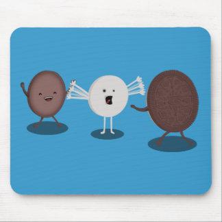 La galleta del bocadillo abraza Mousepad Tapete De Raton