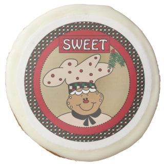 La galleta dulce del pan de jengibre trata navidad