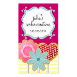 La galleta elegante hace estallar tarjetas de visi plantillas de tarjeta de negocio