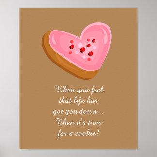 La galleta helada rosa delicioso con asperja A05 Poster