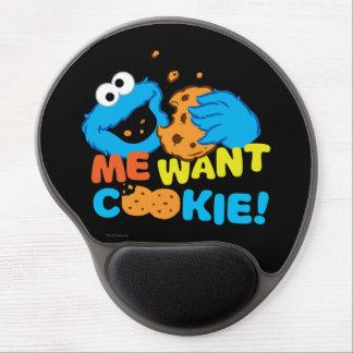 La galleta quiere la galleta alfombrillas con gel