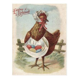 La gallina Pascua coloreó la granja pintada Postal