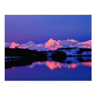 La gama de Alaska está adyacente a Mt. Denali, Postales