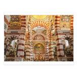 La Garde de Notre Dame de la catedral en Marsella Tarjeta Postal